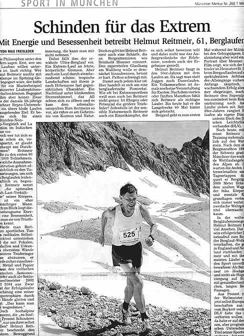 Helmut Reitmeir viermaliger Sieger Zugspitz Extrem Berglauf